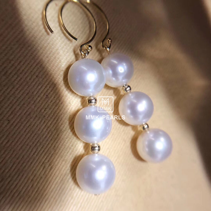 Six-Pearl Earrings