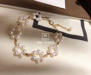 Plum Blossom White Pearl Earrings