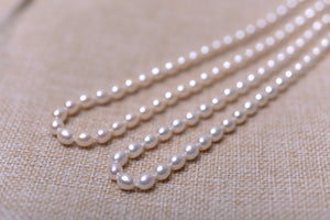 Single Oval Pearl Strand with 14k Gold by MMK (7.0-8.0mm)