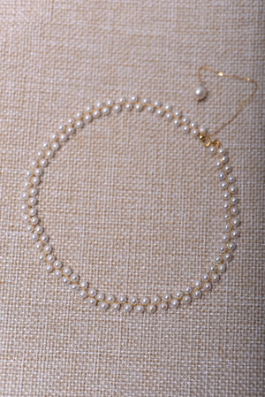 AAAAA Authentic Pearl Double Strands with 14k Yellow Gold (4.0-5.0mm)
