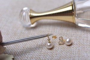 I DO White Pearl Earrings by MMK