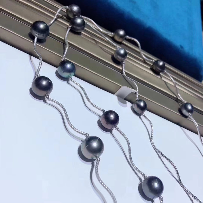 10.5-13.0mm Tahitian Pearl Long String Necklace