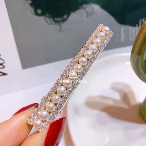 Handmade Authentic Pearl Hair Pin Barrette Design E