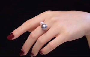 Akoya Pearls 18K White Gold Ring