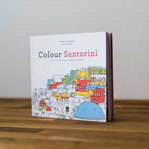 Colour Santorini - An Inspiring Travel Guide & Coloring Book