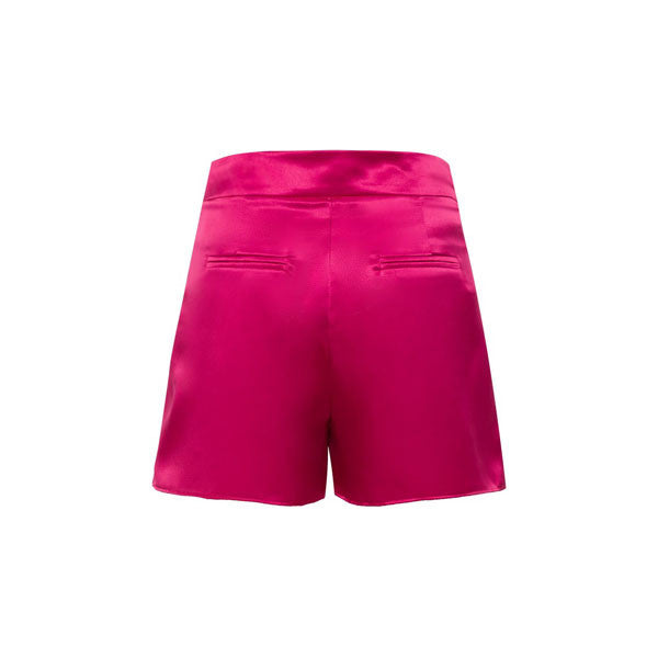 Fuschia SATIN SHORTS | by AMARIS