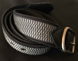 Loom% | Men's Belt - Black/Grey