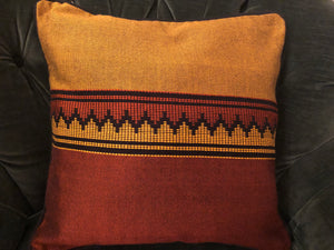 LOOM%  | Handwoven Pillow (Cinnamon and gold)
