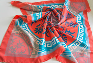 AMORGOS - Digital Printed Silk Twill Scarf by MAGNADI