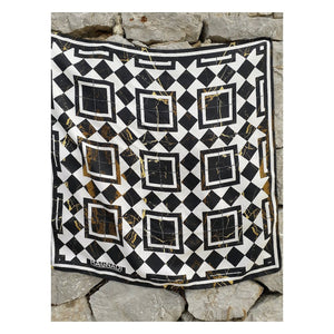 MARBLE TILE Printed Silk Twill Scarf | by MAGNADI