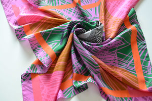 POSITIVE VIBES - Printed Silk scarf | by MAGNADI