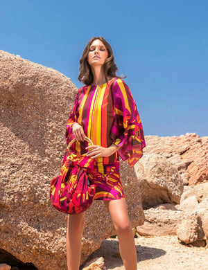 SUNSET GERANIUM Silk Dress | by AMARIS