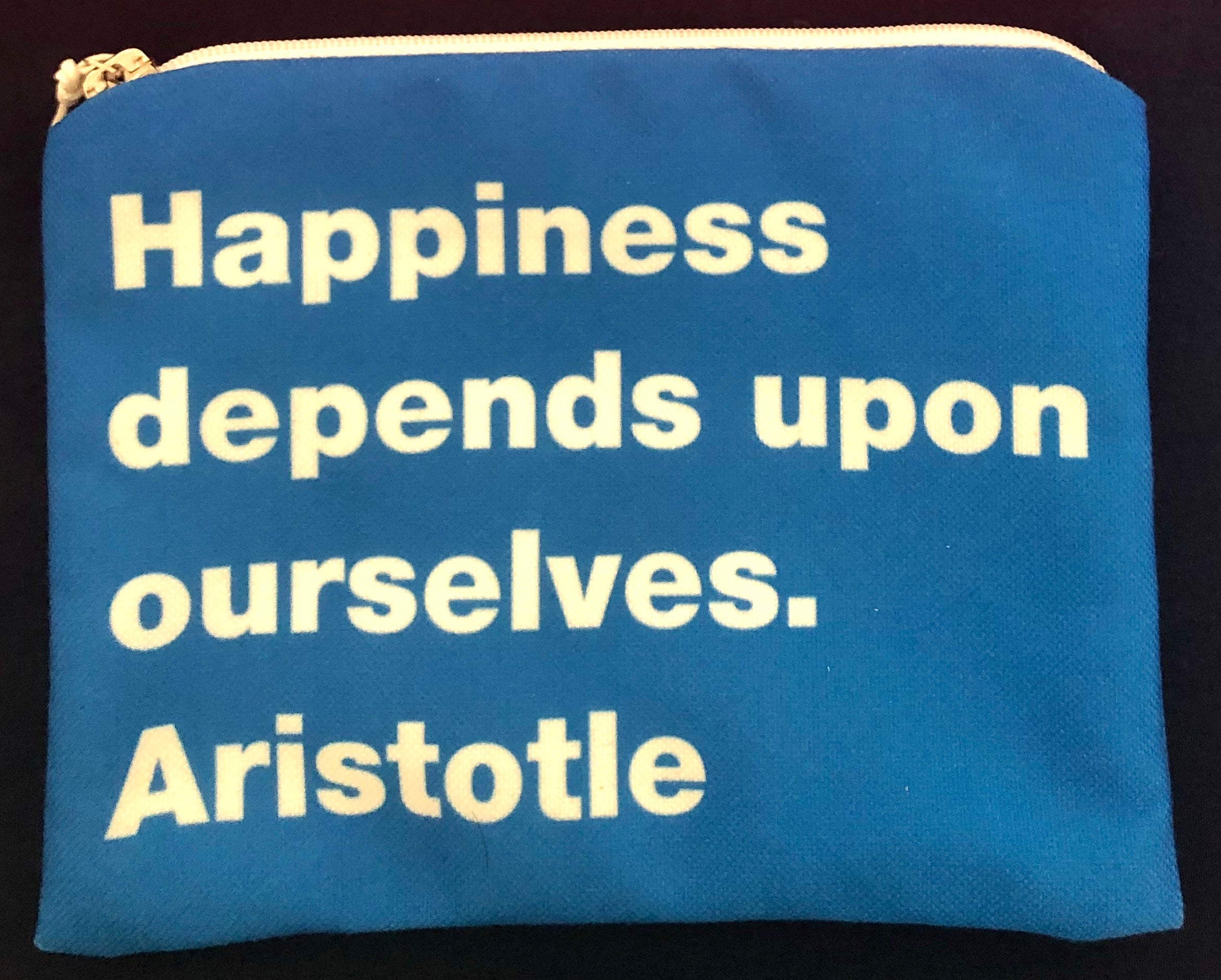 Small Cosmetic Purse with Philosophy Quotes |THIKI Greece