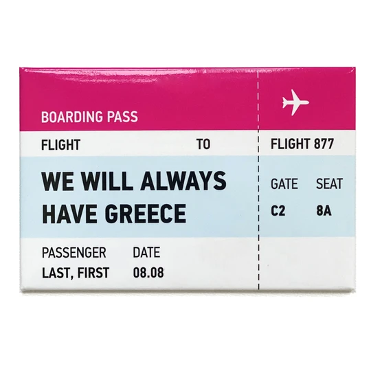 Boarding Pass Magnets |THIKI Greece