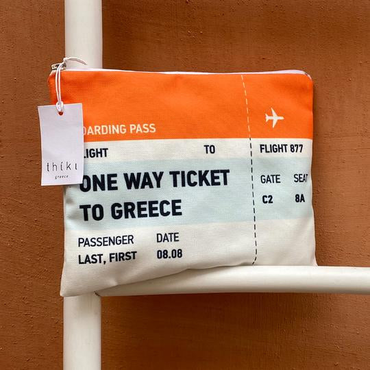 Small Boarding Pass Cosmetic Bag |THIKI Greece
