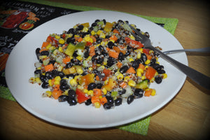 Citrus Lime Quinoa and Black Bean Salad - Vegan
