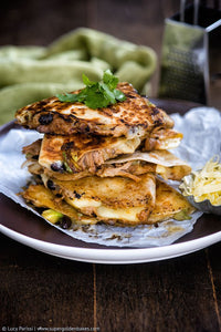 Pulled Pork and Black Bean Quesadillas
