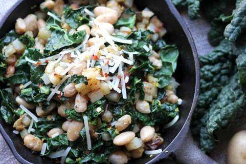 Vegan Potato Kale Bean Hash