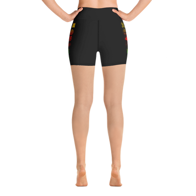 Adinkra Yoga Shorts