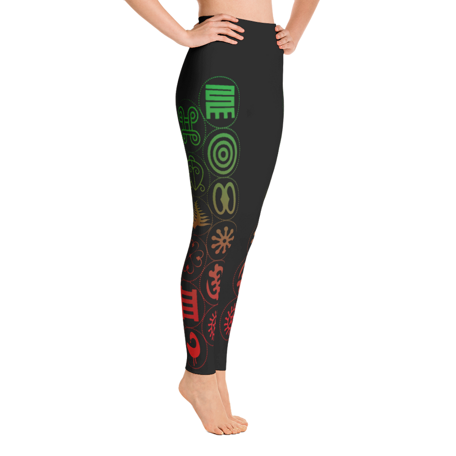 Women's Adinkra Yoga Leggings