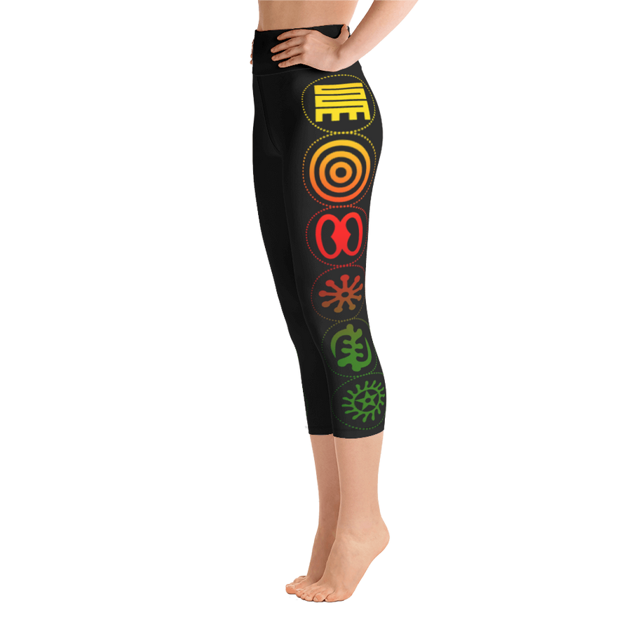 Adinkra Capri Leggings