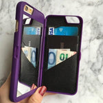 Luxury Makeup Mirror/Wallet iPhone Case