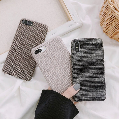 Ultra Thin Cloth Texture iPhone Case