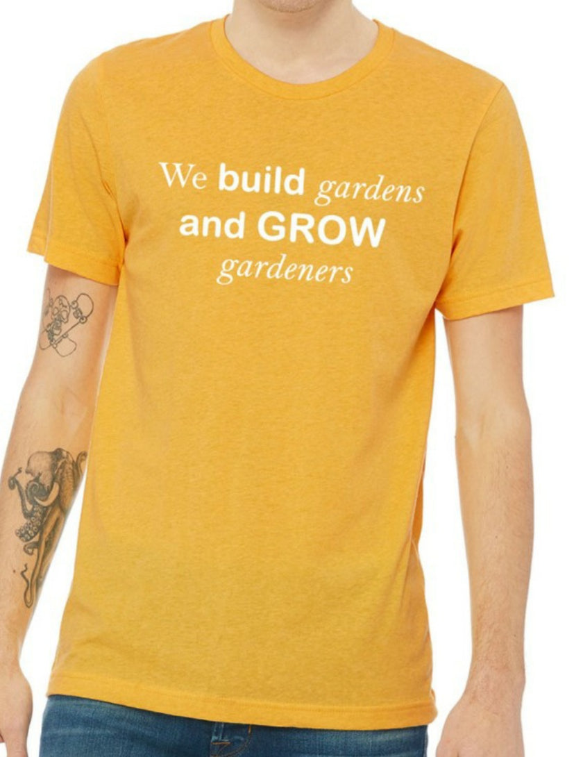 Whitwam Organics We build gardens and grow gardeners T-Shirt