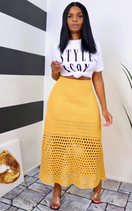Marigold Knitted Maxi Skirt