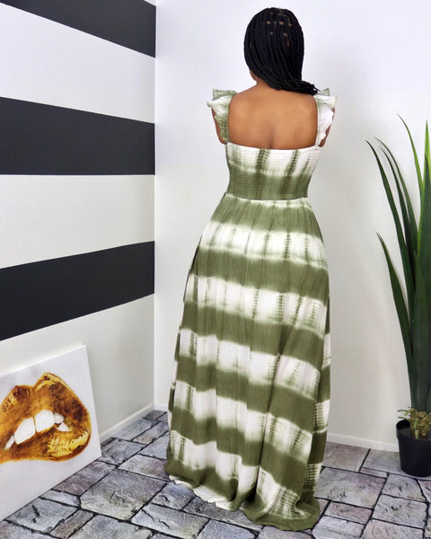 Olive Tied Maxi
