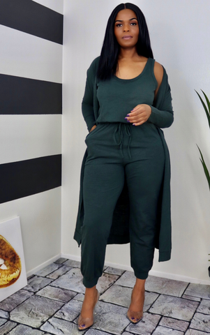Evergreen Cardigan/Jogger Set