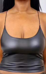 Black Leatherette Cami