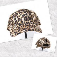 Leopard Ponytail Ball Caps by CC