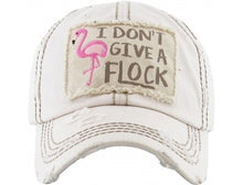 "Distressed Vintage ""I Don't Give a Flock"" Cap"