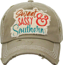 "Distressed Vintage ""Sweet Southern & Sassy"" Cap"