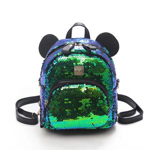 Mouse Sequined Mermaid Backpacks