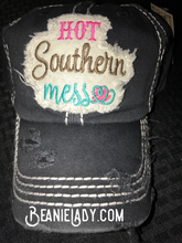 "Distressed Vintage ""Hot Southern Mess"" Cap"