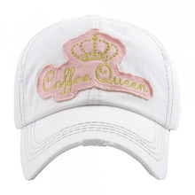 "Distressed Vintage ""Coffee Queen"" Cap"