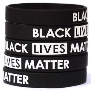 Silicon Black Lives Matter Bracelets