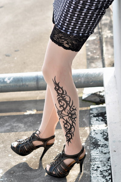 Classic Tribal Inspired Tattoo Stockings