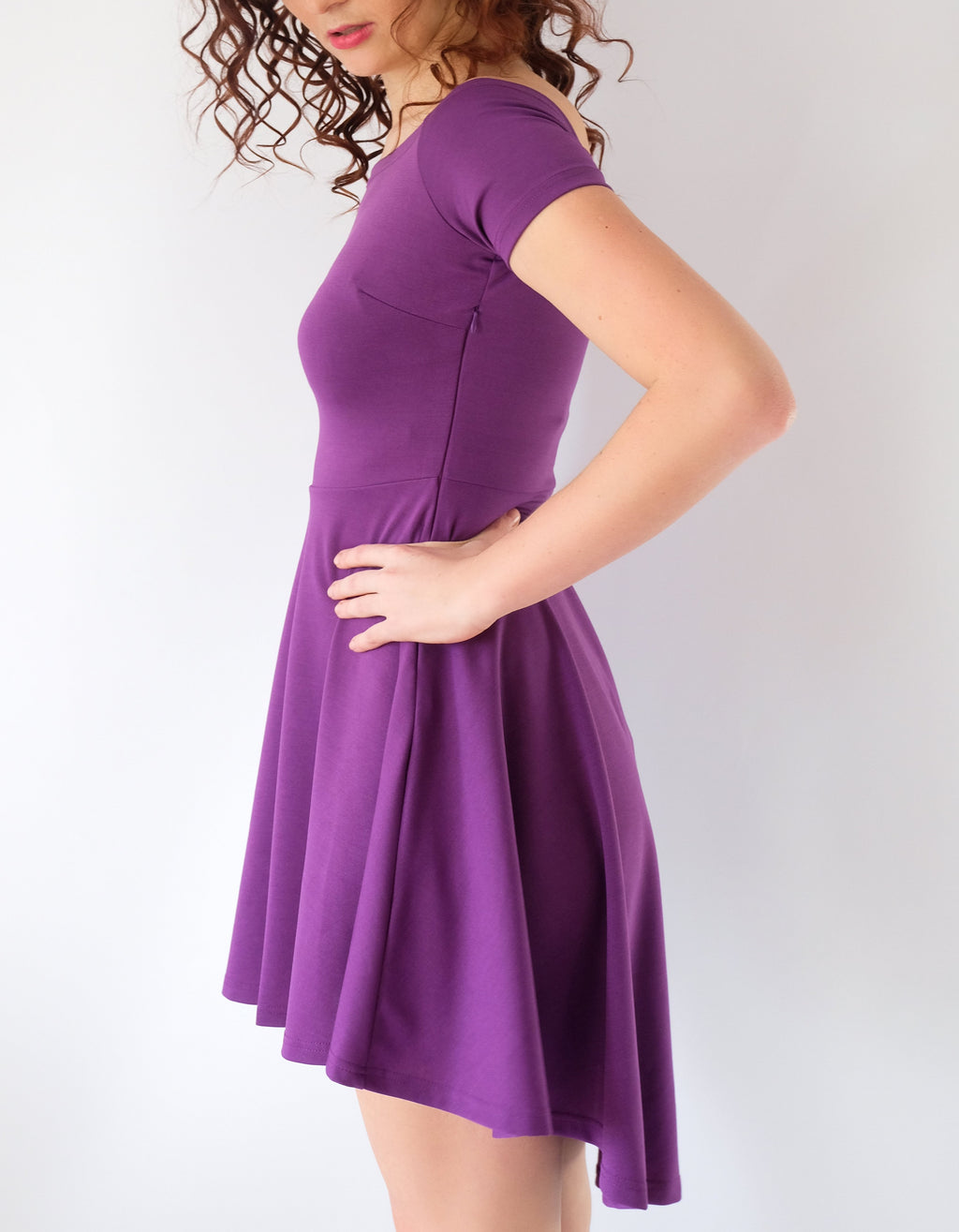 Purple All The Rage Skater Dress