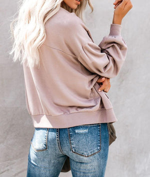 Pink Too Soft Pocketed Bomber Jacket