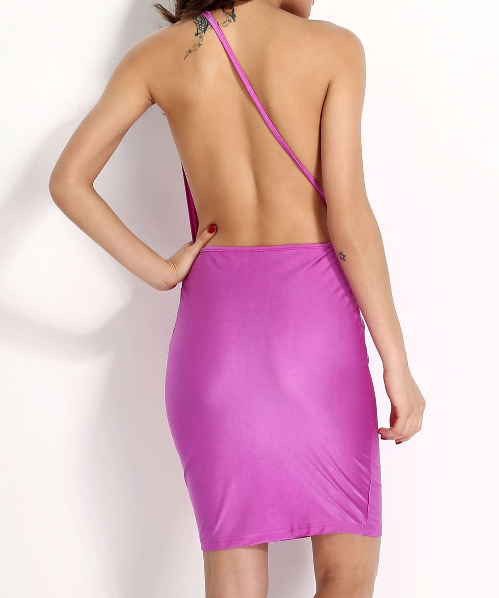 Hollow out Sexy Backless Bodycon Dress