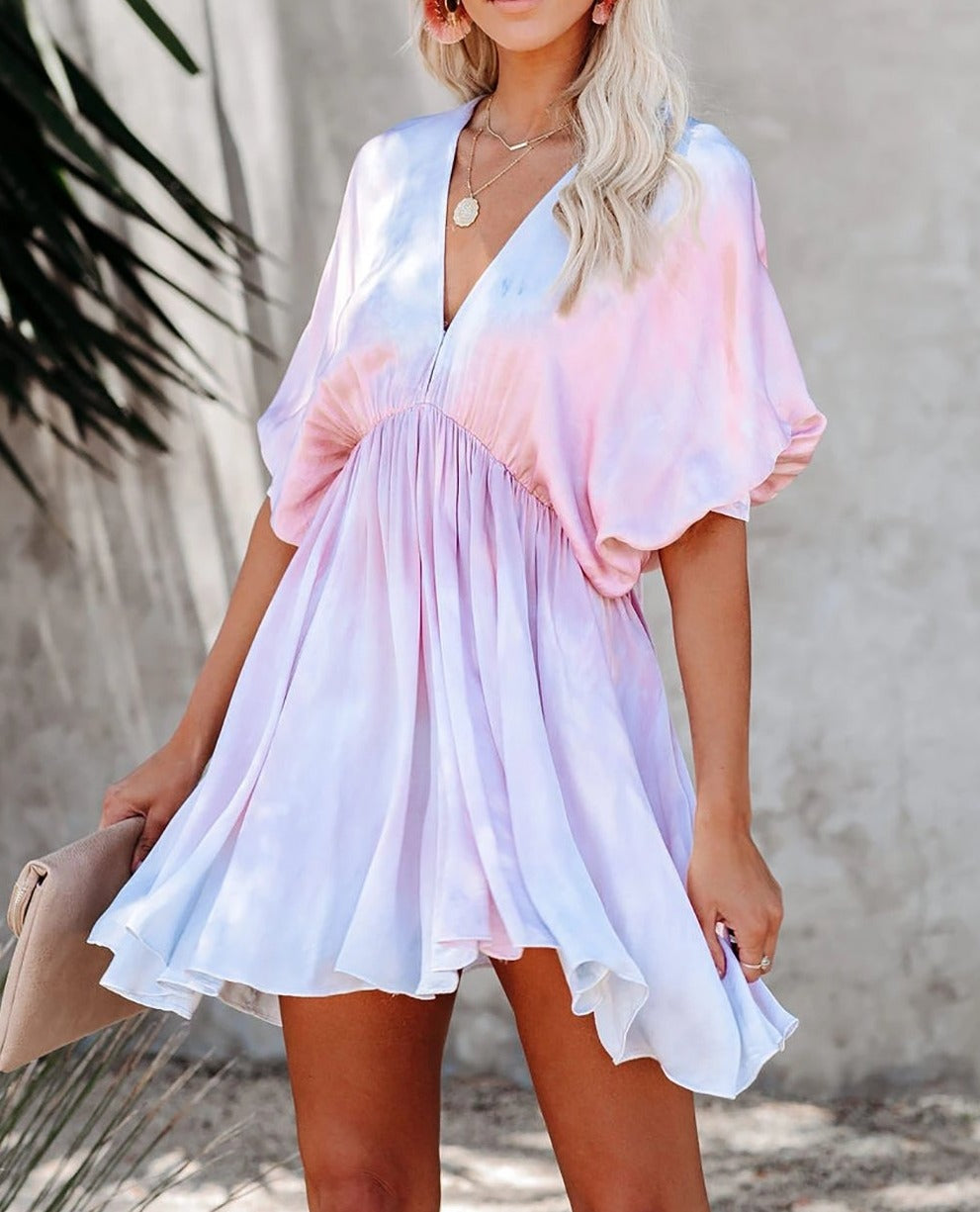 Riptide Tie Dye Babydoll Swing Dress
