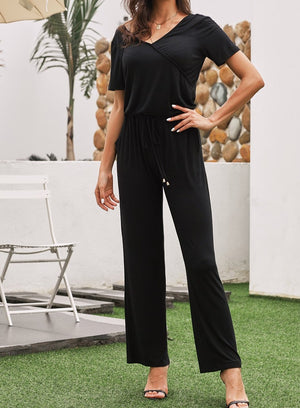 Black Casual Lunch Date Jumpsuit