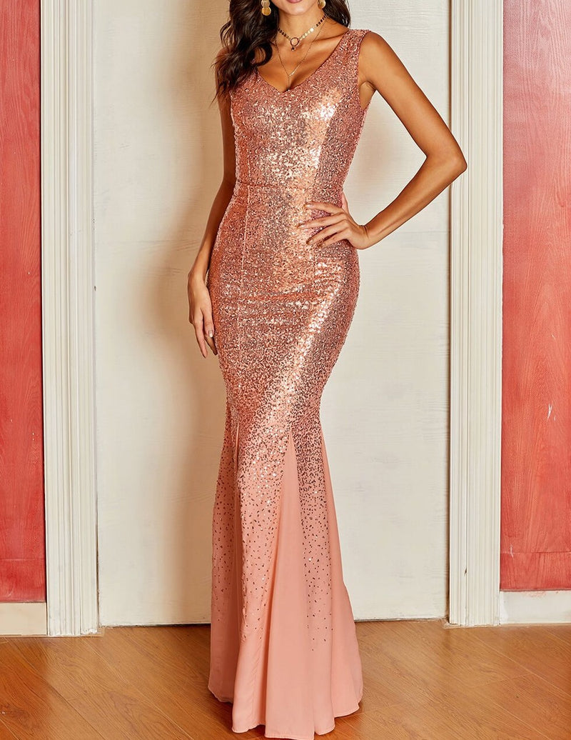 Oscar Night Sequin Maxi Dress