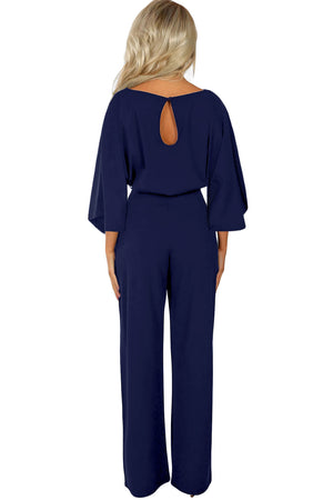Blue Date Night Jumpsuit