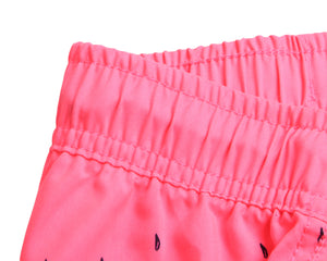 Rosy Floret Printed Women Swim Shorts