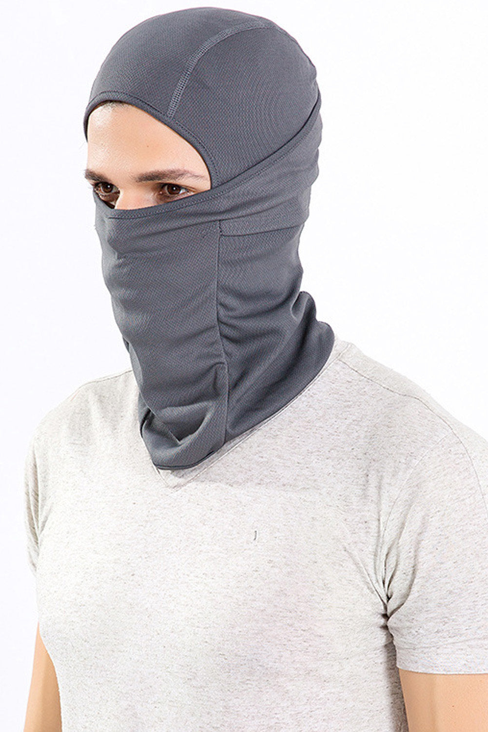 Gray Breathable Dustproof Face Mask Cycling Helmet Balaclava