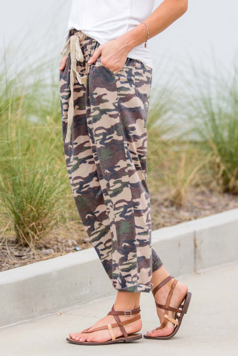 Green Camouflage Lounge Pants